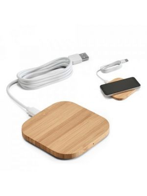 Batterie power bank power bambù ecologico stampato immagine 2